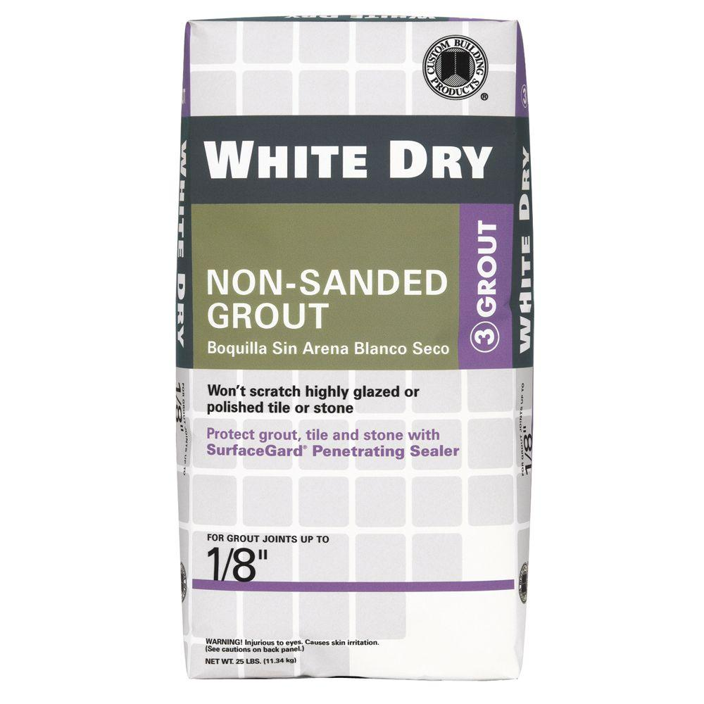 Custom Building Products White Dry 5 lb. Non-Sanded Grout