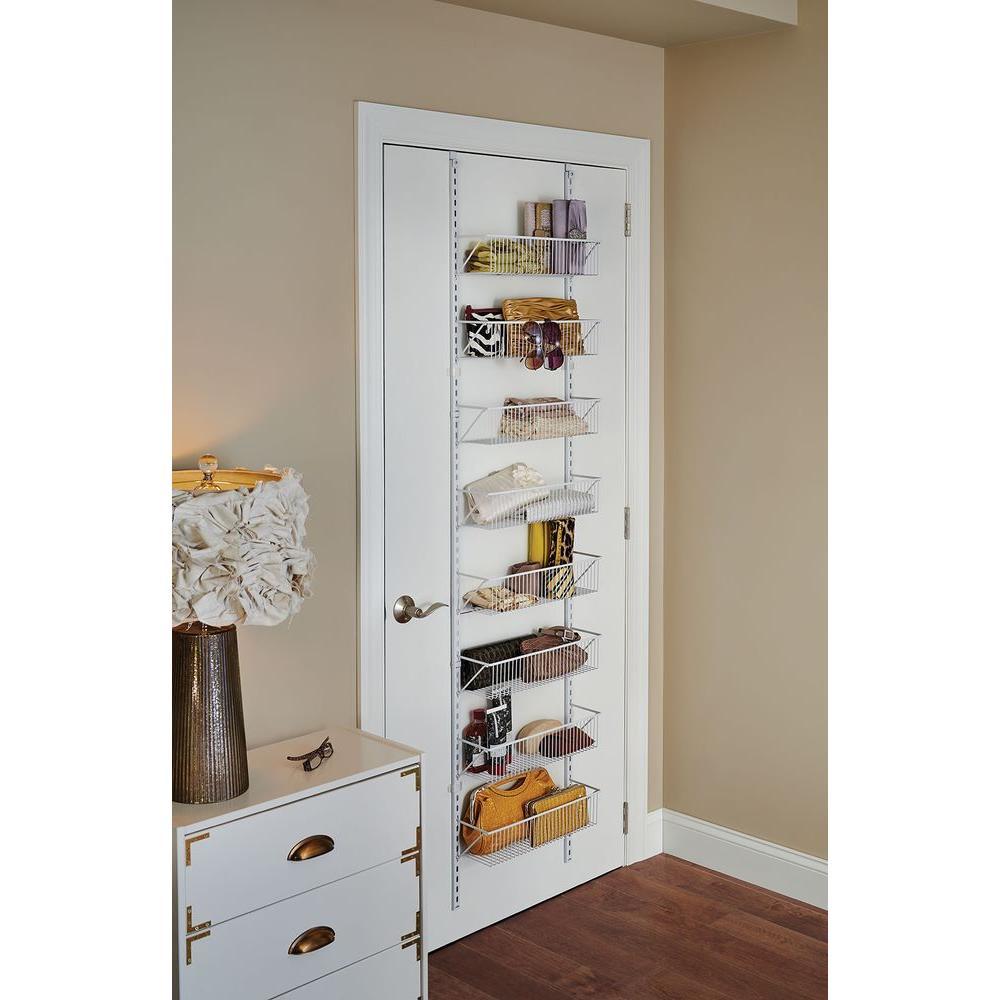 Adjustable Storage Rack Organizer Over The Door 8 Tier