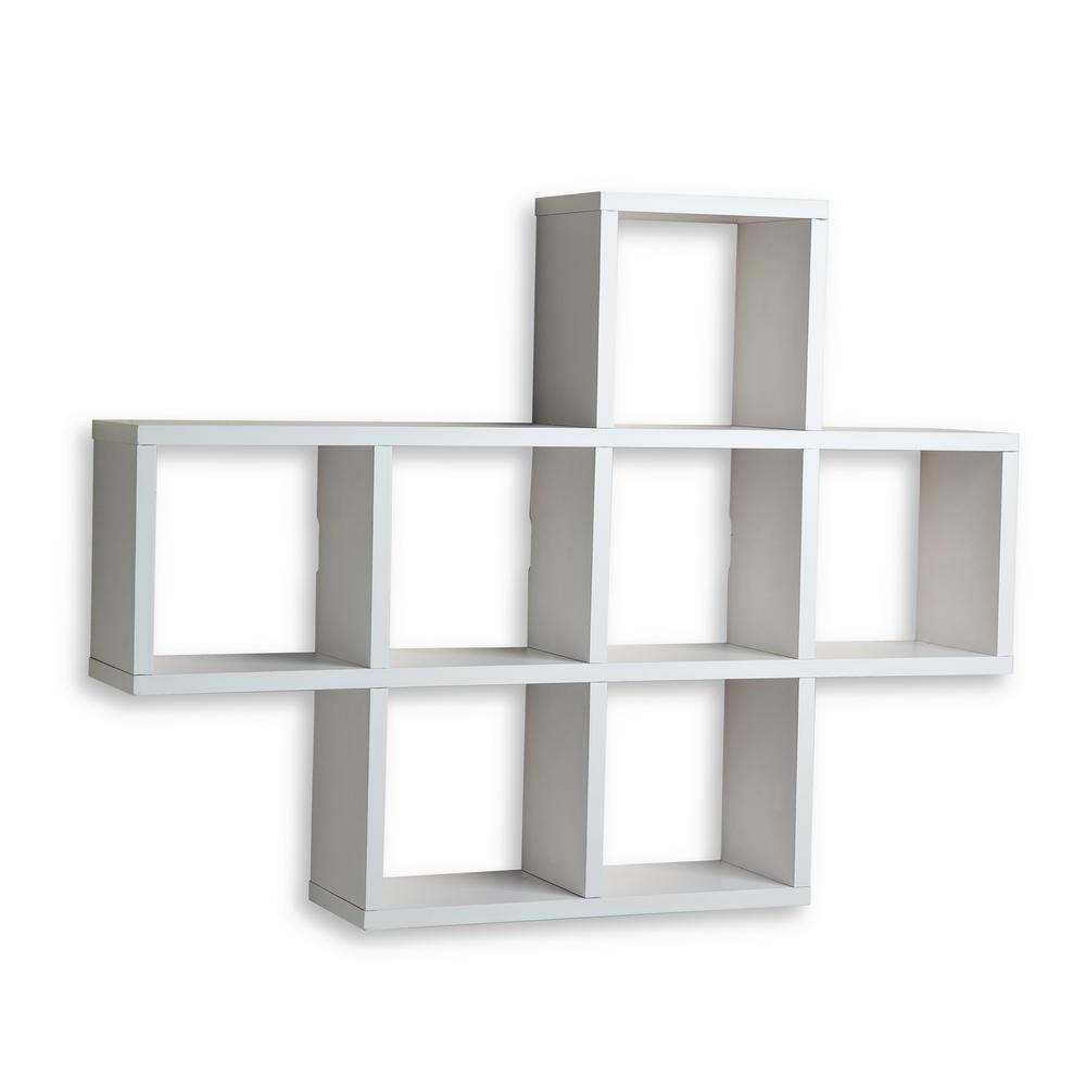31 in. x 23 in. White Laminated Cubby Shelf