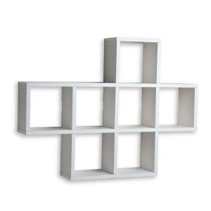 31 in. x 23 in. White Laminated Cubby Shelf