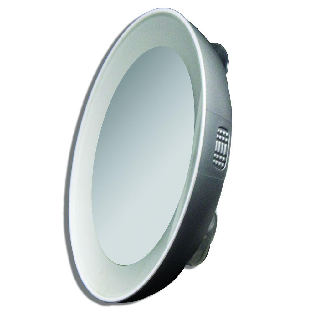 zadro 15x led lighted next generation spot mirror in. Black Bedroom Furniture Sets. Home Design Ideas