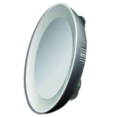 15X LED Lighted Next Generation Spot Mirror in Silver