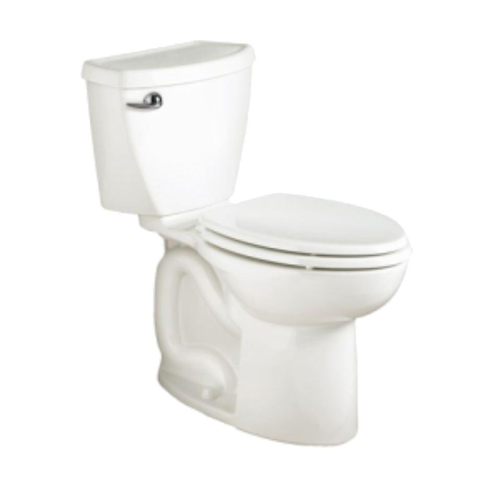 American Standard Cadet 3 Powerwash Tall Height 10 in. Rough 2-piece 1.28 GPF Single Flush Elongated Toilet in White, Seat Not Included