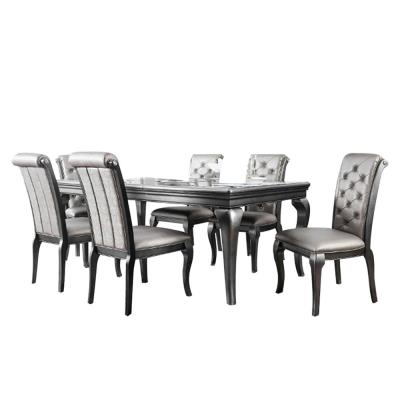 Amina Gray Table Set