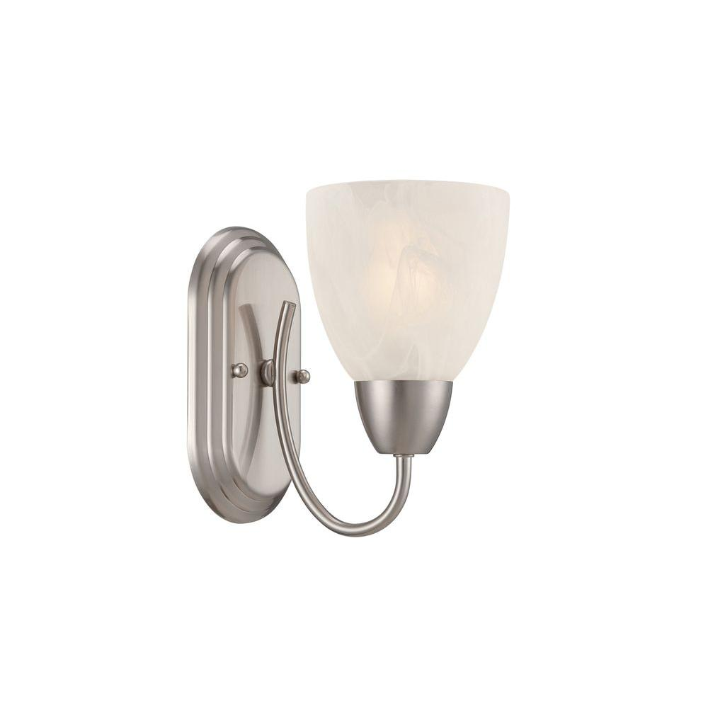 Torino 1 Light Brushed Nickel Wall Sconce