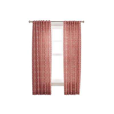 Maine Lobster Full Bloom Back Tab Curtain