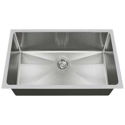 Undermount Stainless Steel 31 in. Single Bowl Kitchen Sink