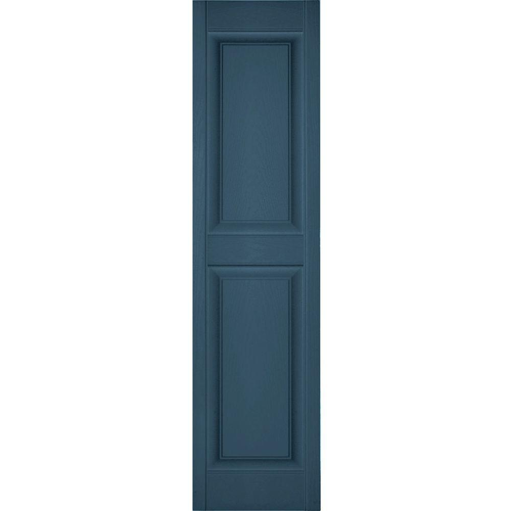Blue - Raised Panel - Exterior Shutters - The Home Depot