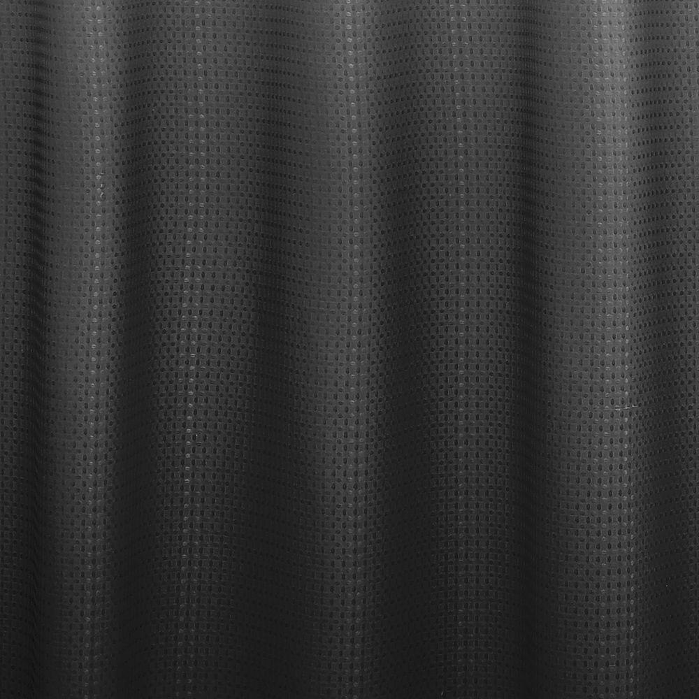 Dark Gray Ombre Shower Curtain 70in X 72in Bathroom Bath Metal Roller Rings