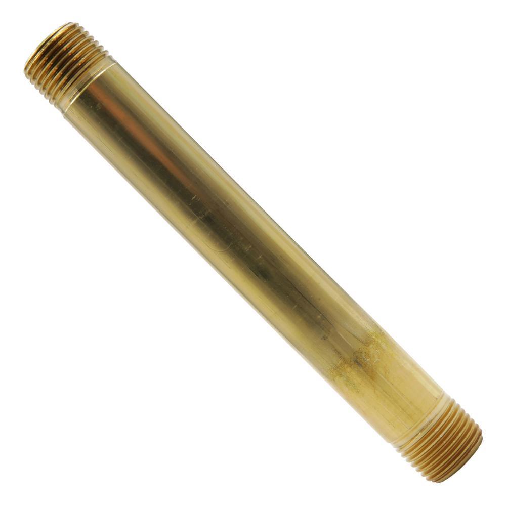 1/2 in. x 6 in. MIP Brass Nipple Fitting