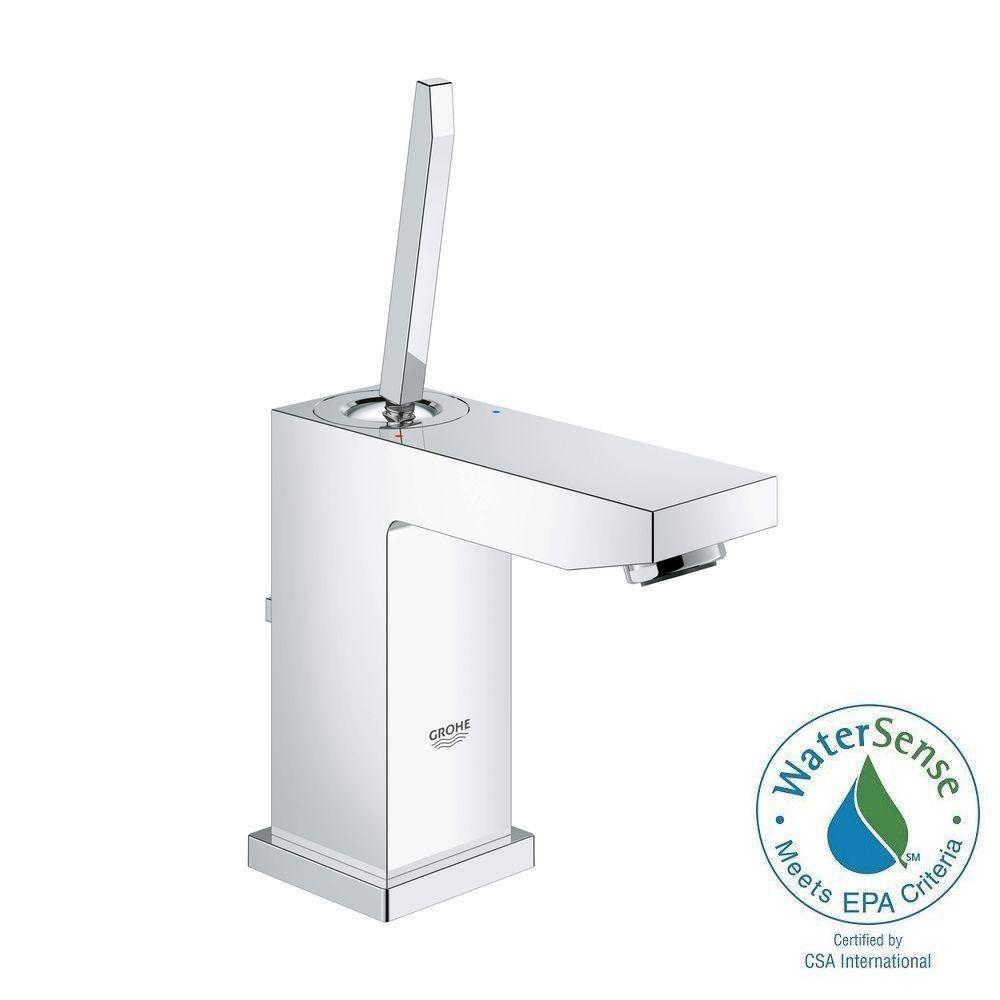 Eurocube Joy S-Size Single Hole Single-Handle Bathroom Faucet in StarLight Chrome