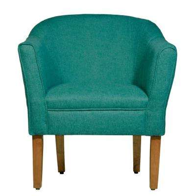 TealChunky Teal Textured Accent Chair