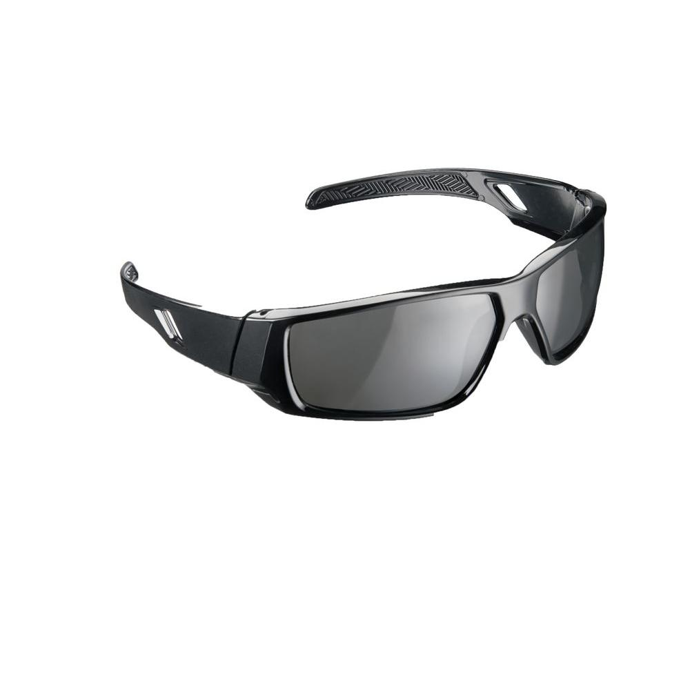 polarized safety glasses 3m workwear black frame with tinted scratch 10555