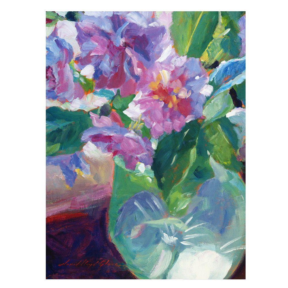 24 In X 32 In Pink Flowers In Green Vase Canvas Art Dlg0251