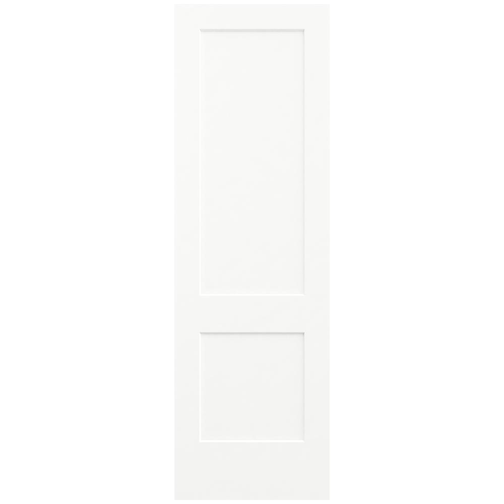 Jeld wen 30 in x 96 in monroe white painted smooth solid for Solid core mdf interior doors