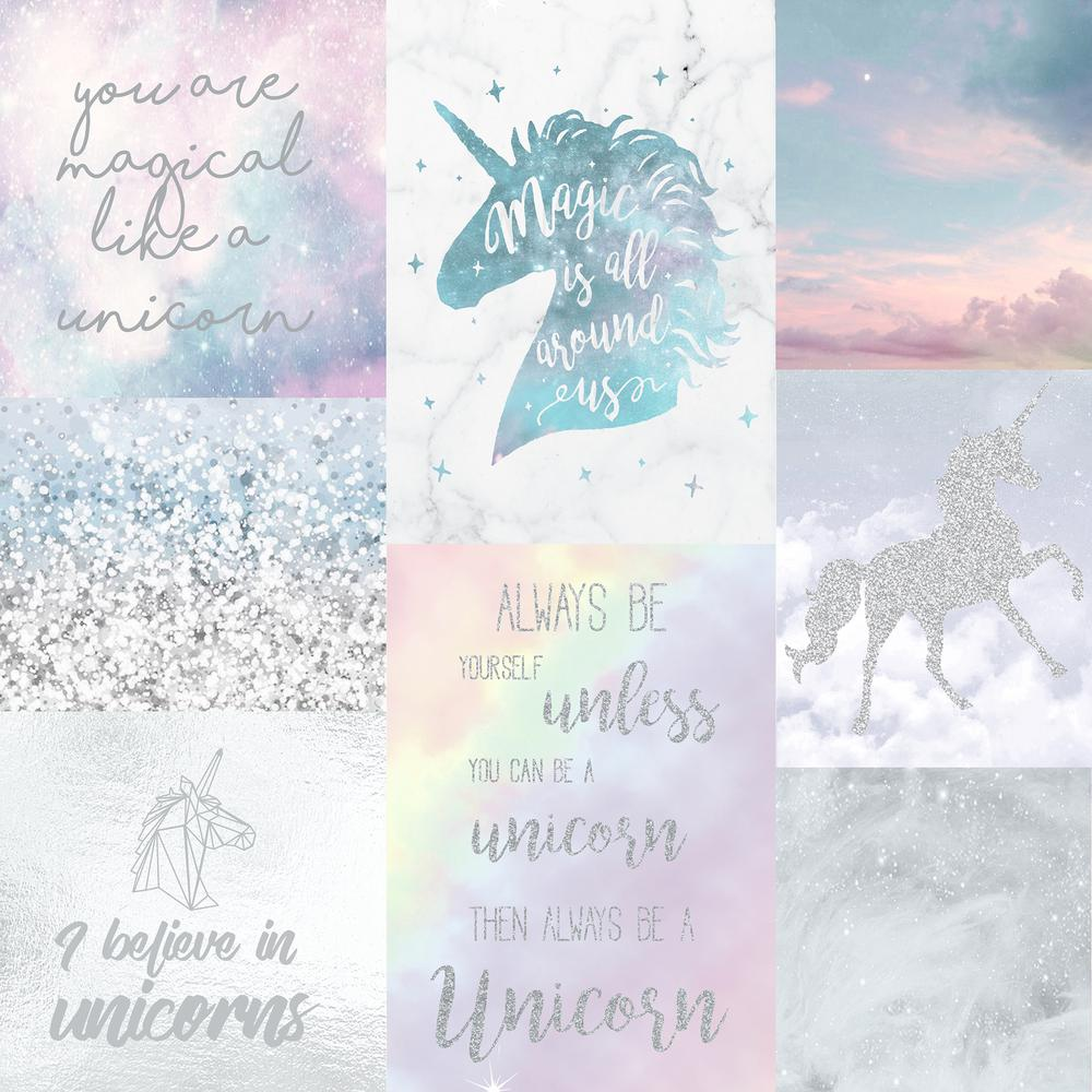 Arthouse Believe In Unicorns Wallpaper 698300 The Home Depot