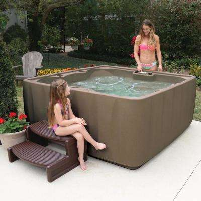 Elite 600 6-Person Plug and Play Standard Hot Tub with 29 Stainless Jets, Ozone and LED Waterfall in Brownstone