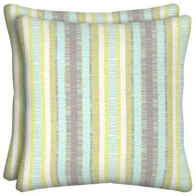 Phyllis Stripe Outdoor Throw Pillow (2-Pack)