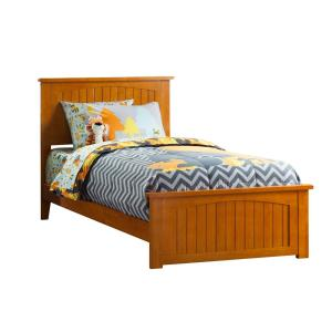 Nantucket Caramel Twin Traditional Bed with Matching Foot Board