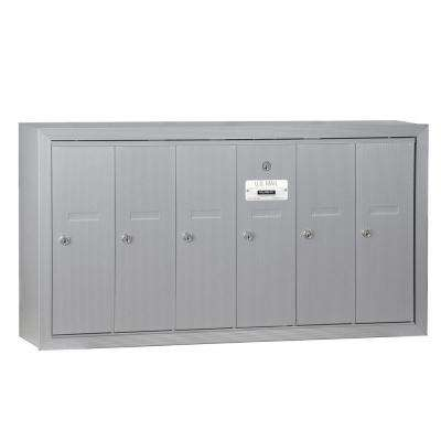 Aluminum Surface-Mounted USPS Access Vertical Mailbox with 6 Doors