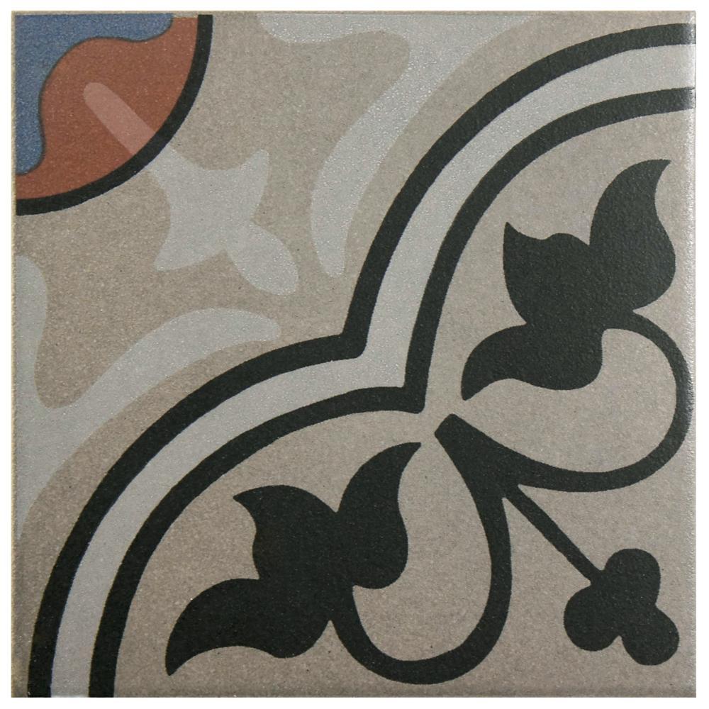 Merola Tile Cementi Quatro And Centro Encaustic 7 In X Porcelain Floor