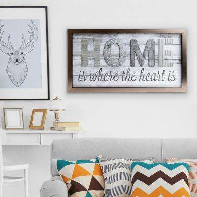 Home Is Where The Heard Is Wood Plank Decorative Sign