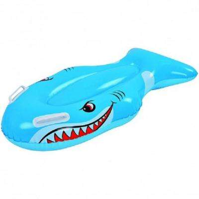 39 in. Blue and White Children's Inflatable Shark Kick Board
