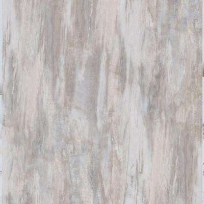 White Petrified Wood 12 in. x 24 in. Peel and Stick Vinyl Tile (20 sq. ft. / case)