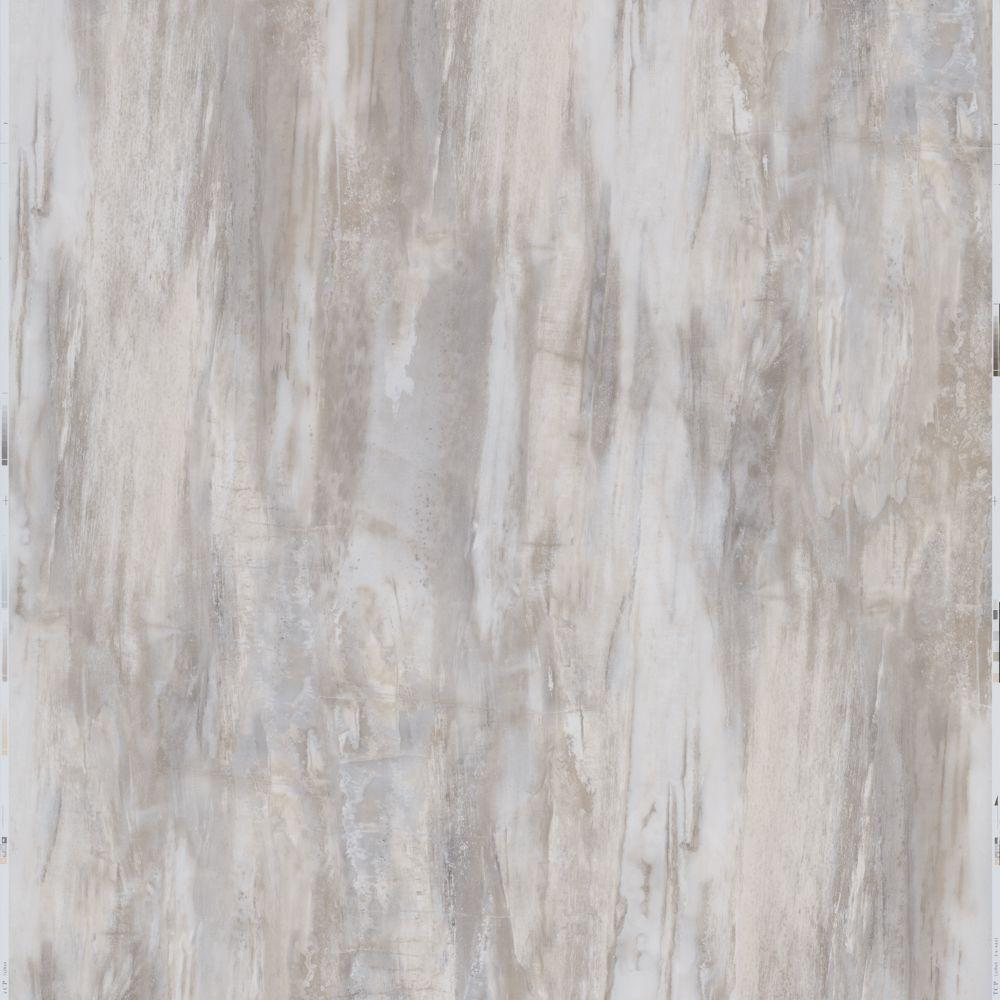 Trafficmaster white petrified wood 12 in x 24 in peel and stick vinyl tile