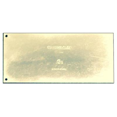 4 in. x 9 in. Tempered Steel Striker Plate