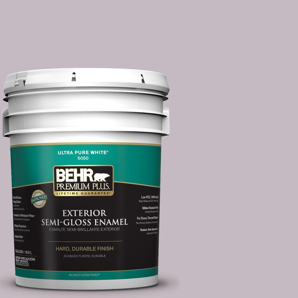 5-gal. #N110-2 Mulberry Stain Semi-Gloss Enamel Exterior Paint