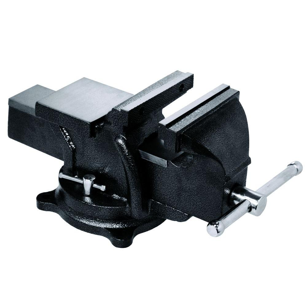 Bessey 6 In Heavy Duty Bench Vise With Swivel Base Bv Hd60 The Home Depot