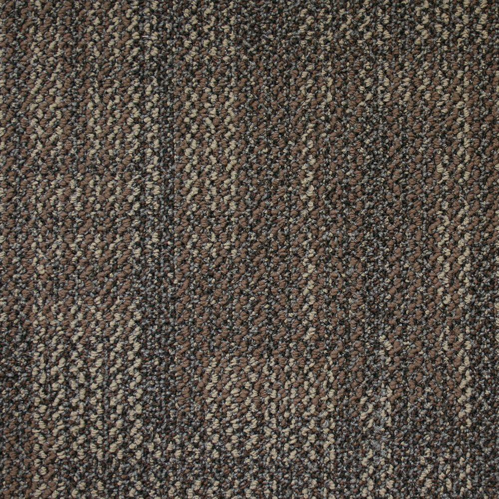 Carnegie Coconut Shell Loop 19.7 in. x 19.7 in. Carpet Tile