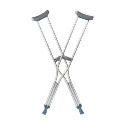Push-Button Aluminum Crutches