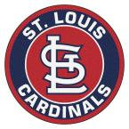 MLB St. Louis Cardinals Navy 2 ft. x 2 ft. Round Area Rug