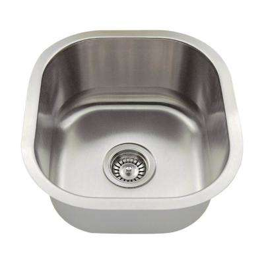 Undermount Stainless Steel 16 in. Single Bowl Bar Sink