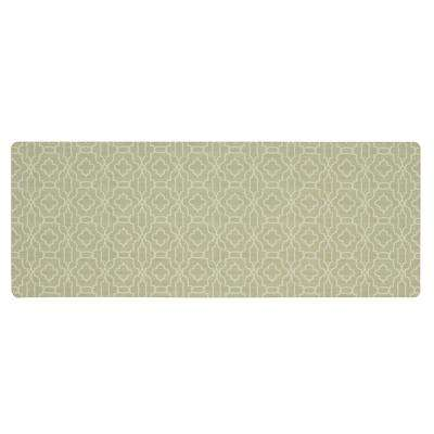 Micro Elegance Chavet Lattice 18 in. x 48 in. Kitchen Mat