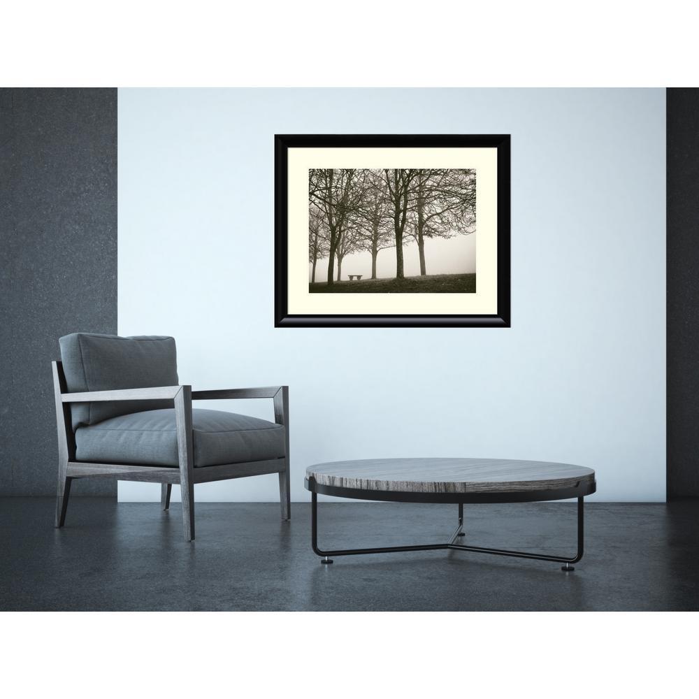 "33 in. W x 27 in. H ""Trees in Fog VI"" by Jody Stuart Framed Art Print"