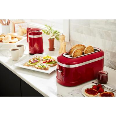 KitchenAid-4-Slice Red Long Slot Toaster with High-Lift Lever