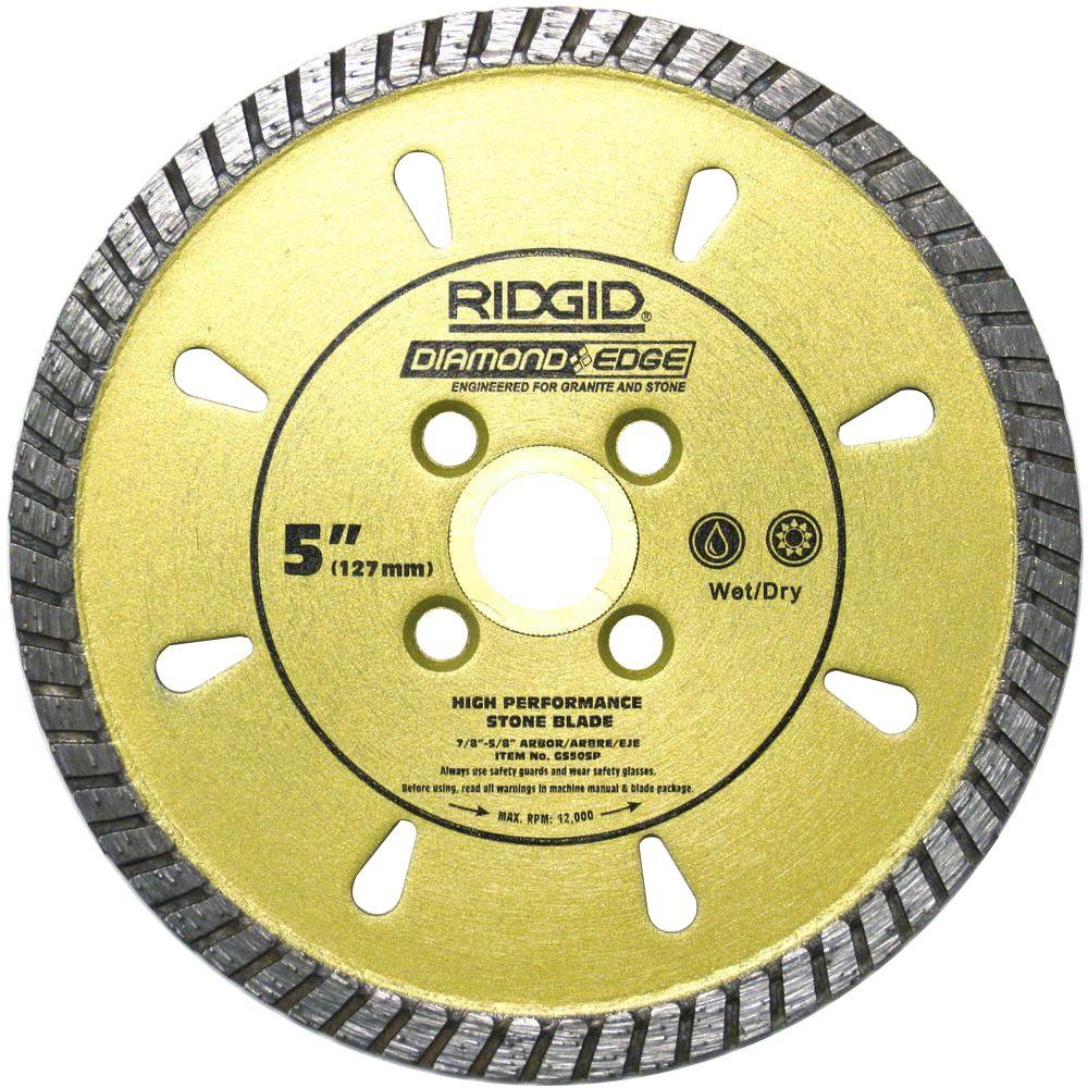 RIDGID 5 in. Diamond Stone Blade