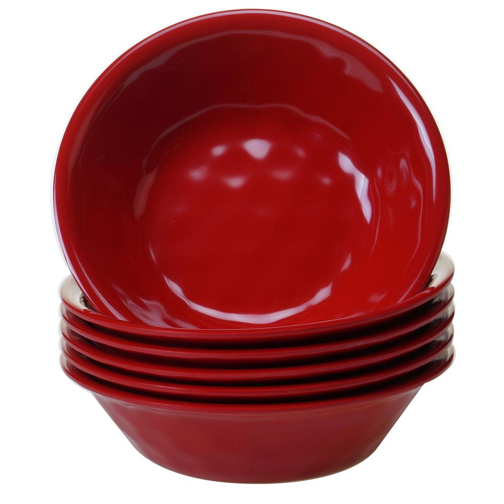 6-Piece Red Bowl Set