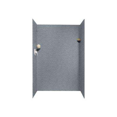 36 in. x 48 in. x 72 in. 3-Piece Easy Up Adhesive Alcove Shower Surround in Night Sky