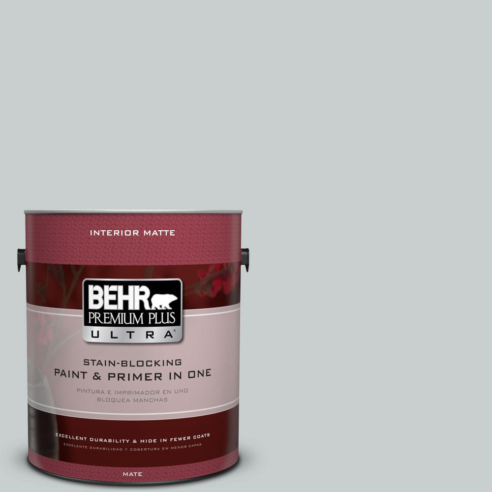 1 gal. #720E-2 Light French Gray Flat/Matte Interior Paint and Primer