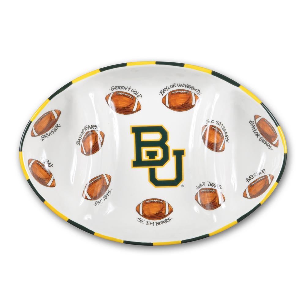 Baylor Ceramic Football Tailgating Platter