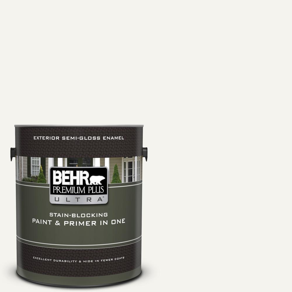 Behr Premium Plus Ultra 1 Gal Pwn 10 Decorator White Semi Gloss