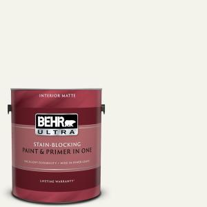 1 gal. #W-F-700 Moon Rise Matte Interior Paint and Primer in One