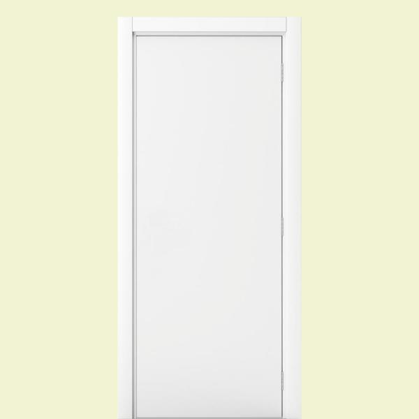 Vert 24 In X 80 In Modern Flat 45 90 Right Handed White Solid Core Wood Single Prehung Interior Door 24x80x4fm45 90wscr The Home Depot