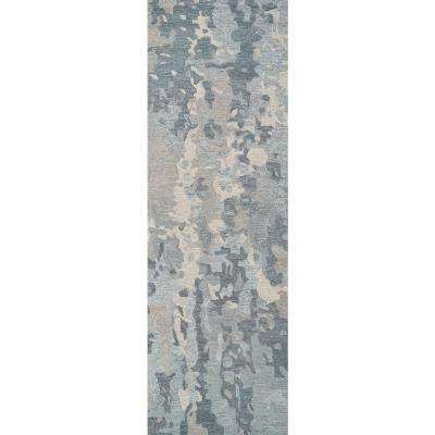Vogue Gray 2 ft. 6 in. x 8 ft. Abstract Runner Rug