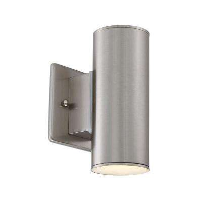Barrow 3 in. Satin Platinum LED Wall Lantern