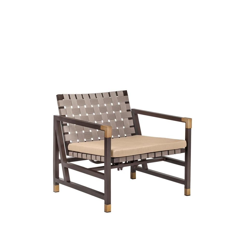 Brown Jordan Form Patio Motion Lounge Chair in Harvest